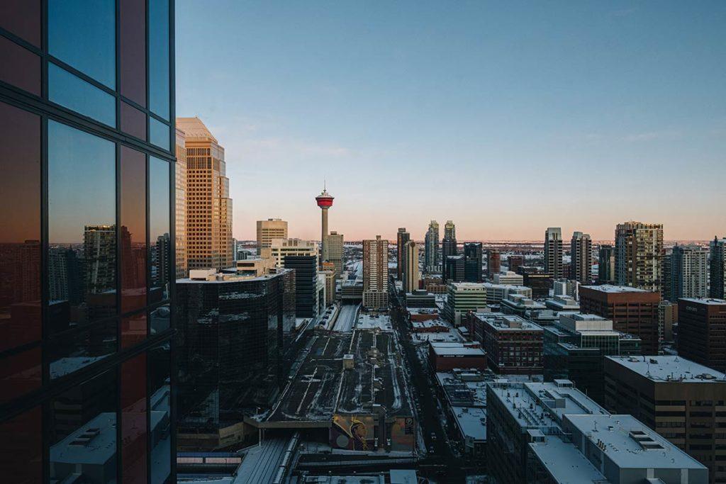 vue depuis la chambre du Residence Inn Marriott Calgary Refuse to hibernate