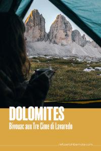 Dolomoites bivouac aux Tre Cime di Lavaredo Pinterest