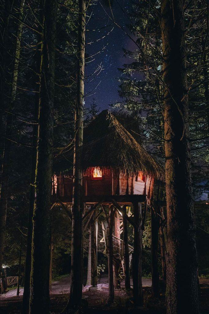 Bol d'Air cabane murmure du printemps de nuit Massif des Vosges