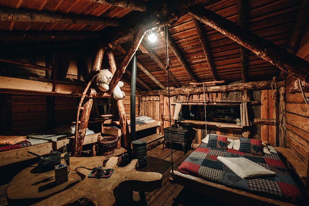 intérieur cabane rêve de gosse Bol d'Air Massif des Vosges